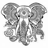 Coloring Elephants Children sketch template