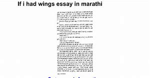 Essay on if i had wings in hindi