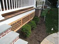 lattice under deck A Wood Deck And What To Do Underneath | LandscapeAdvisor
