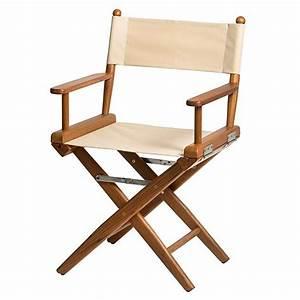 Chaise Pliante Exterieur : sedia regista con seduta in tela beige azurinoxmarine ~ Teatrodelosmanantiales.com Idées de Décoration