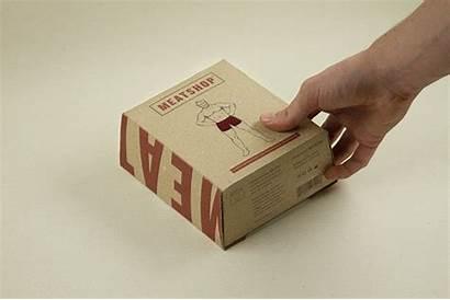 Packaging Meatshop Box Animated Menswear Open Behance
