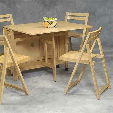 table de cuisine avec chaises designs créatifs de table pliante de cuisine