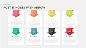 Post It Note Powerpoint Template And Keynote With Arrow