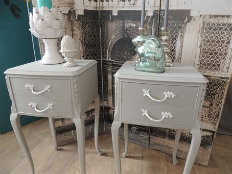 shabby chic bedside tables shabby chic pair of french style bedside tables eclectivo london furniture with soul