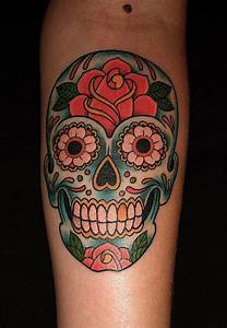 Candy Skull Tattoos Designs, Ideas and Meaning | Tattoos ...
