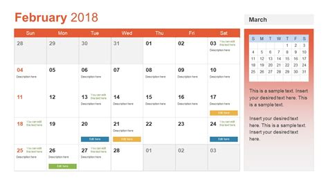 calendar template for powerpoint calendar template powerpoint gallery templates example