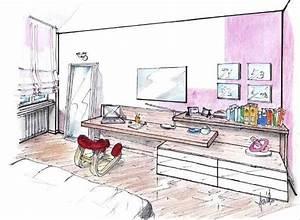 Zona studio in camera: una parete multifunzione