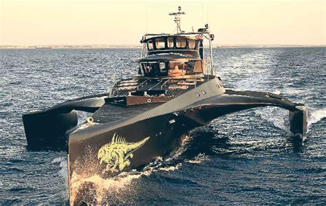 Trimaran Gojira by Delinin D 252 ş 252 Sea Shepherd Gojira