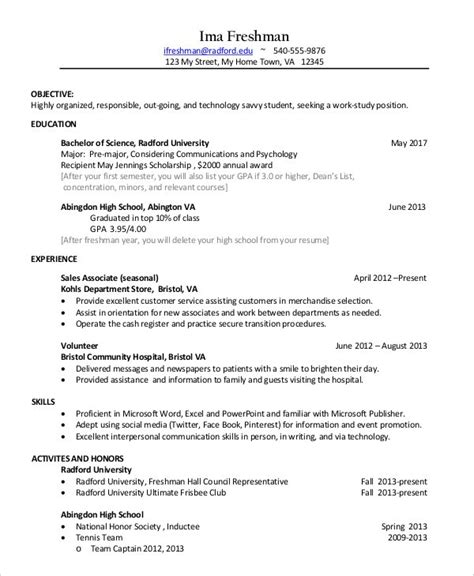 Technical resume (computer science/engineering) 5. Resume Template College Student 3 Things To Expect When Attending Resume Template College ...