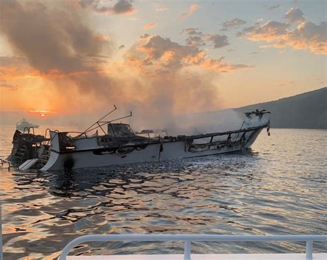 california boat fire promise   diving adventure turns