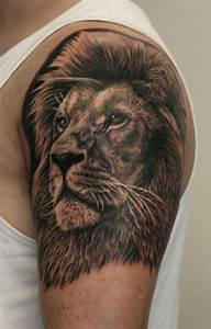 Lion Head Tattoo On Left Hand by AB Martinez