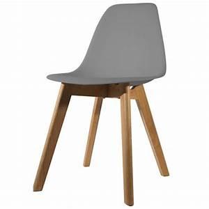 Chaise Scandinave Grise : chaise scandinave coque grise orkney 3 suisses ~ Melissatoandfro.com Idées de Décoration