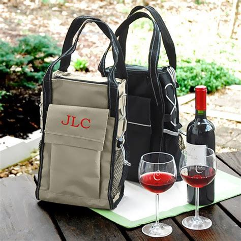 personalized insulated wine totes