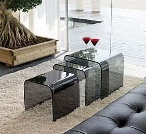 Table Basse En Plexiglas : tables basses modernes 47 id e de salon contemporain ~ Teatrodelosmanantiales.com Idées de Décoration