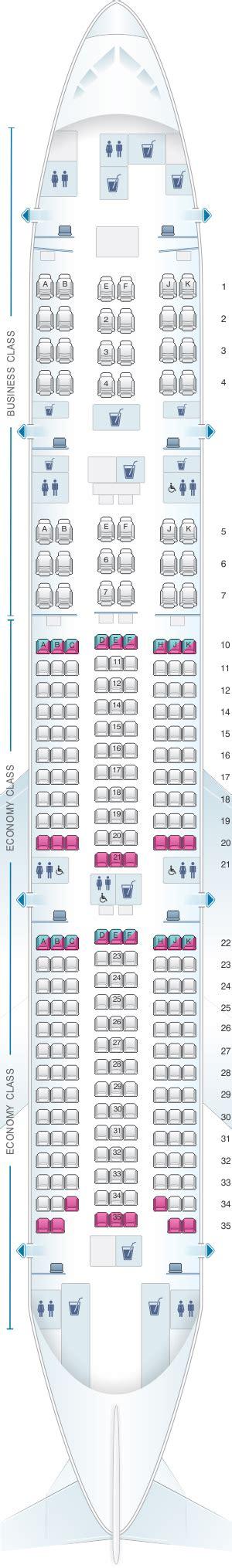 siege boeing 777 plan de cabine qatar airways boeing b777 200lr 259pax