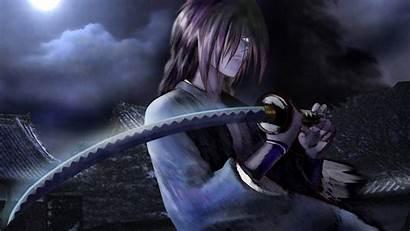 Ninja Moon Japan Katana Cloud Anime Screen