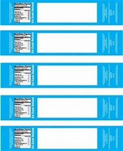 6 up label template baby shower water bottle labels nutrition facts