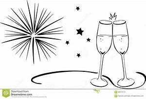 Sektgläser Schwarz Weiß : sparkling wine glasses new years eve stock vector ~ Watch28wear.com Haus und Dekorationen