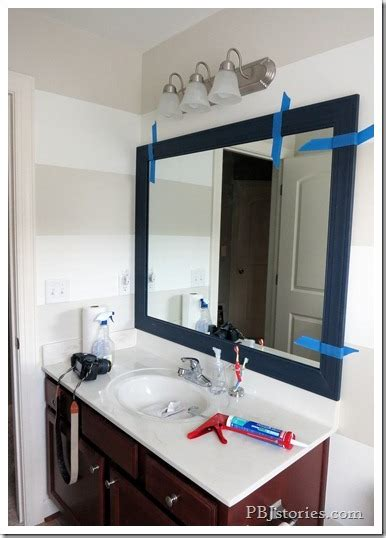 Bathroom Mirror Adhesive by Pbjstories How To Build Your Own Mirror Frame The Easy Way