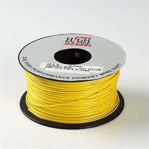 500ft Yellow 22 Awg Gauge Stranded Hook Up Primary Wire