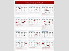 Calendário de 2019 – Portugal Calendário