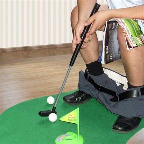 tapis de mini golf pour toilettes avant j 233 tais riche