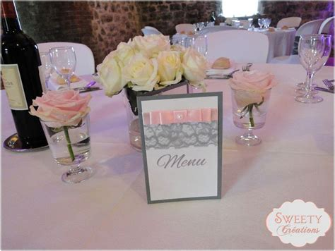 deco table gris et blanc menu pour mariage th 232 me poudr 233 et gris cr 233 ation sweety cr 233 ations d 233 coration table faite