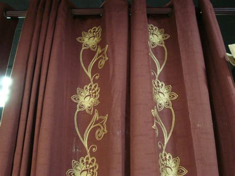 linden curtains jcpenney jcpenney linden grommet chocolate floral curtains