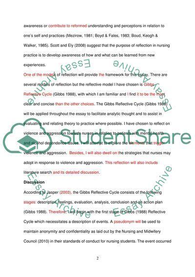 reflective cycle  gibbs essay  topics