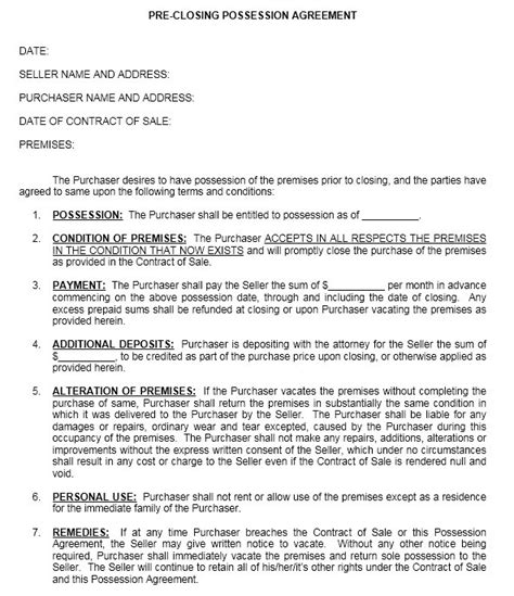 agreement form sle occupancy agreement template 28 images 13 free sle