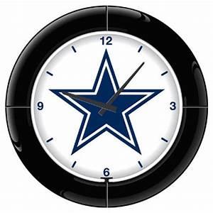 Dallas Cowboys Neon Clock NFL Football Wall Clocks