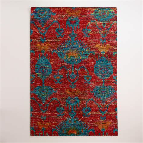 rugs world market ikat knotted area rug world market
