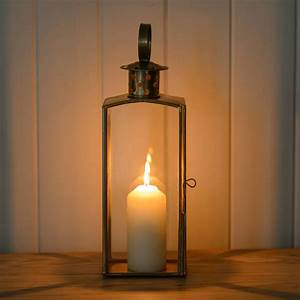 Tall, Brass, And, Glass, Candle, Lantern, By, The, Flower, Studio