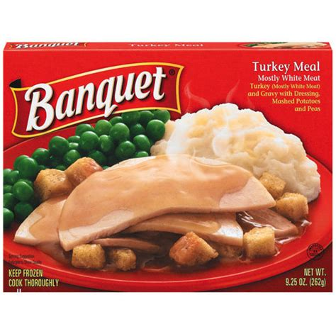 banquet turkey mostly white meat and gravy with