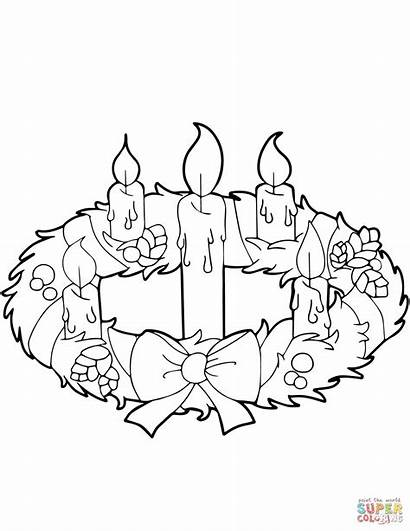 Colorare Disegni Advent Wreath Coloring Candles
