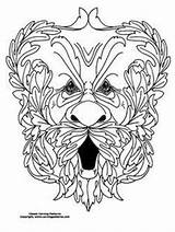 Patterns Carving Pyrography Drawing Burning Masques Fox sketch template