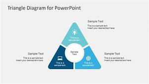 Round Point Flat Triangle Powerpoint Diagram