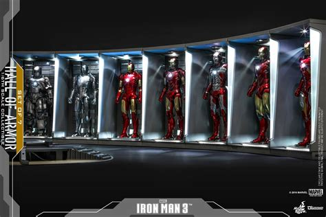 hot toys hall  armor iron man   er set iron