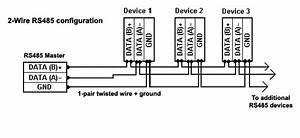 Rs485 Connection Example   Serial Data Communication By U S  Converters Llc