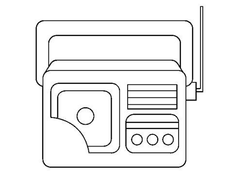 dibujo de radio antigua para colorear dibujos net
