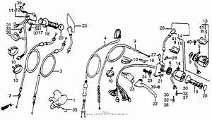Control Levers   Cables   Switches For 1985 Honda Vt500