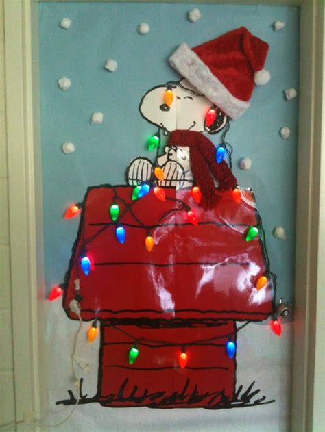 classroom door a charlie brown christmas holidays