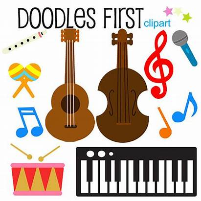 Clipart Instrument Clip Instruments Musical Christmas Categories