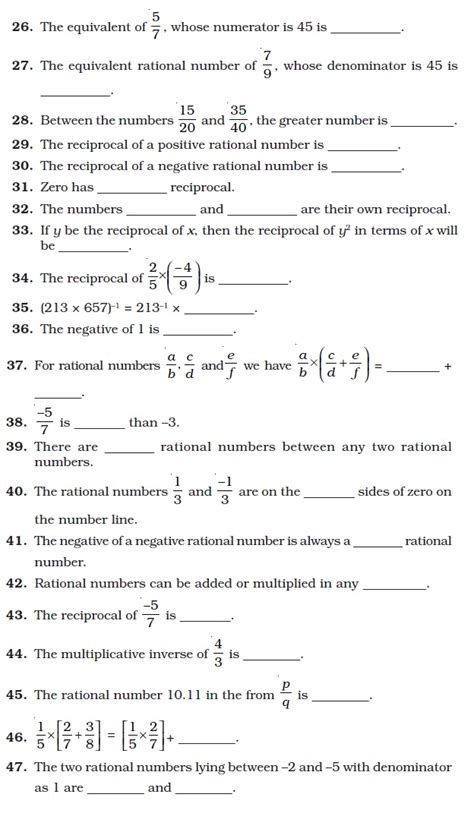 class 8 important questions for maths rational numbers aglasem schools