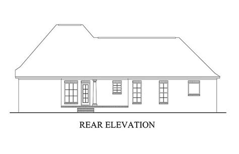 House Plan 56900 Southern Style with 1500 Sq Ft 3 Bed