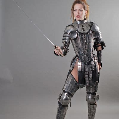 fantasy lady warrior functional etched armor legs  sale