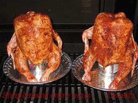 cuisiner une canette simplement entre nous poulet grillé sur une canette de
