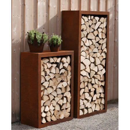 Gartendeko Rost Und Holz by Rost Garten Feuerholz Regal Rostiges Gartendeko Rost