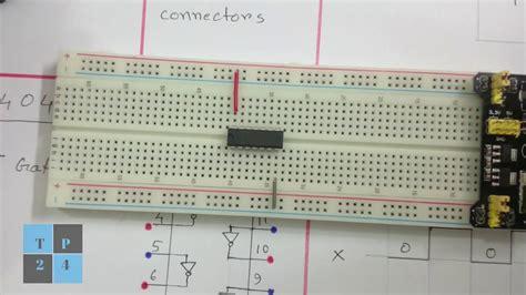 Digital Electronics Circuit Breadboard Not Inverter