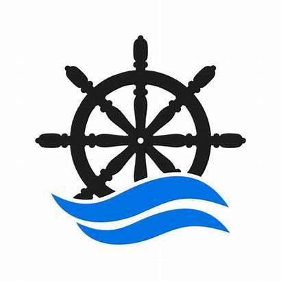 Wheel Steering Vector Ship Boat Helm Icon